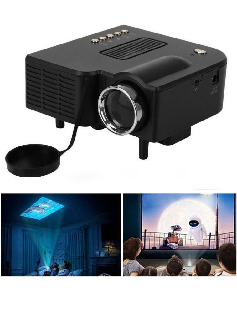 SPARK LED Projector, 48 Lumens, Built-In Speaker, Adjustable Focus Lens