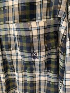 Plaid Long Sleeve Button Up Shirt by Nautica XL