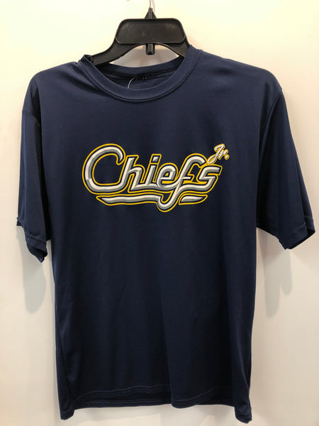 Navy Syracuse Chiefs Jr Dri Fit Type Shirt Large