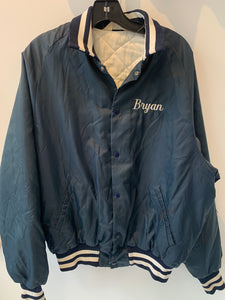 Vintage Nylon Manlius Fire Dept Coaches Jacket Fits a Medium Made in USA