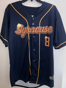 2018 Gameworn Salt Potatoes Jersey (Syracuse Chiefs) Fits like a Large Made in USA
