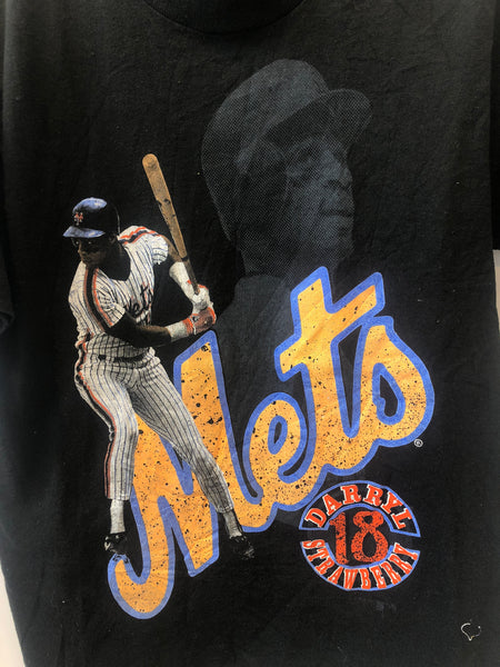 Vintage Darryl Strawberry NY Mets T-Shirt, Size XS/S. MADE IN USA.