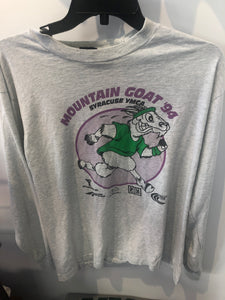 Vintage 1994 Mountain Goat Run Syracuse YMCA Long Sleeve T Shirt Large Made in USA