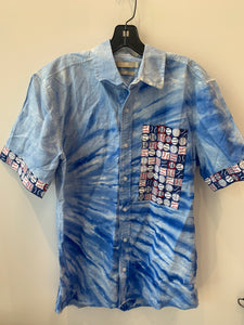 Custom Handmade Baseball Cotton/Linen Button Down Shirt