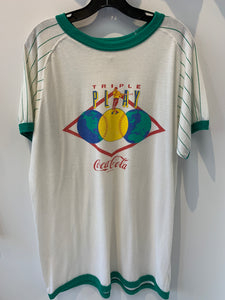 Vintage Off White Coca Cola Ringer T Shirt