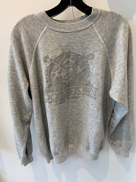 Vintage Grey Cooperstown Sweatshirt, size M/L. MADE IN USA.