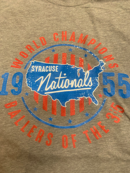 Exclusive Soft 1955 Syracuse Nationals World Champs T Shirt