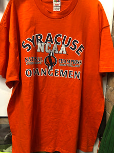 2003 NCAA Champs Syracuse University T Shirt. TS42
