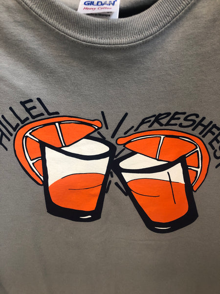 Concrete Gray Syracuse University Hillel Jewish Student Union T Shirt Small