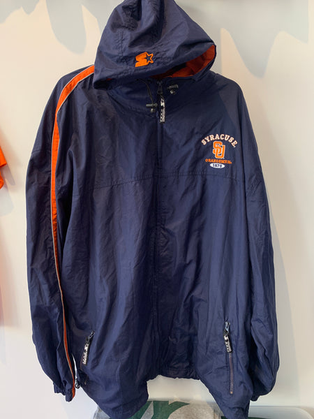 Vintage Starter Full Zip Syracuse University Orangemen Nylon Jacket w/ Hood 3XL