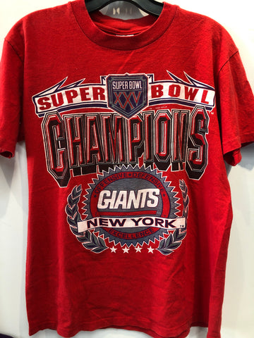 Vintage NY Giants Super Bowl XXV T-Shirt, size S. Made in USA.