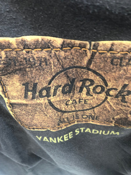 Chocolate Brown Hard Rock Cafe Yankee Stadium T Shirt Large