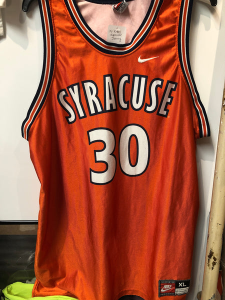 Nike Throwback Syracuse Basketball Jersey, #30 Todd Burgan. Size XL. Made in USA!
