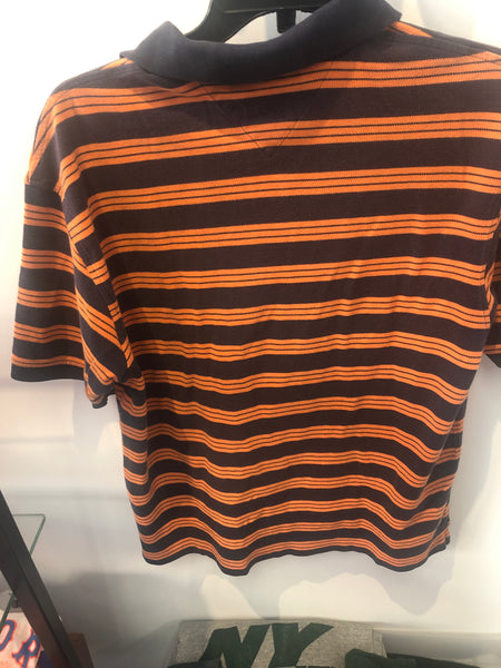 Striped Orange and Blue Tommy Hilfiger Short Sleeve Polo Fits like Small