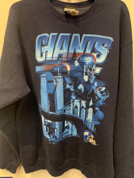 Vintage NY Giants Sweatshirt w/ Twin Towers World Trade Center size XL