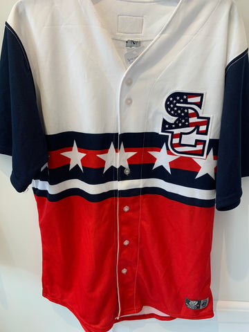 Syracuse Chiefs American Flag Jersey Size 46 (Fits like L). MADE IN USA.