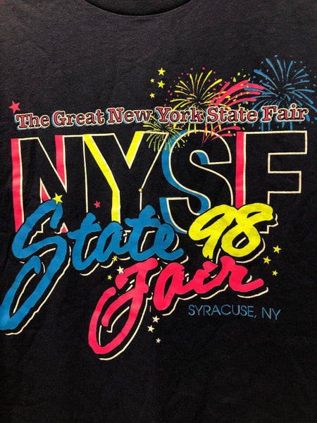 Vintage 1998 State Fair Neon colors T Shirt