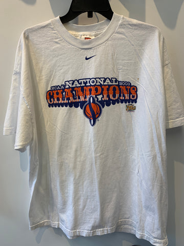 2003 NCAA National Champs T Shirt Syracuse University Spaceship S