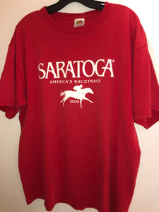 Red 2005 Saratoga America's Racetrack T Shirt XL