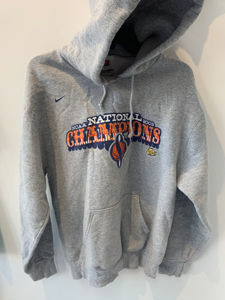 Nike 2003 NCAA Championship Heather Gray Syracuse University Hoodie Large