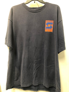 Vintage Syracuse University T Shirt in a washed Navy 2XL
