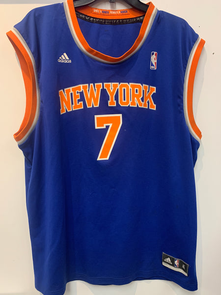 Official Carmelo Another New York Knicks  #7 Royal Blue Basketball Jersey Size XL