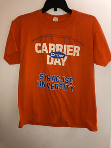 Vintage 80's Screen Stars Syracuse University Carrier Day T Shirt Fits a Small/Medium. TS7
