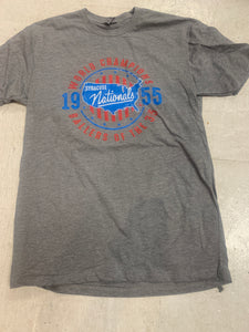 Exclusive Soft Heather Gray 1955 Syracuse Nationals World Champs T Shirt