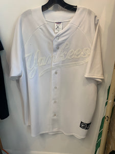 New York Yankees Made in the USA white on white jersey size xl