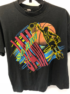 Vintage Black Basketball Slam Jam T Shirt Fits like Small