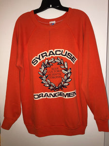 Vintage Syracuse University Orangemen Seal Sweatshirt Fits a Large