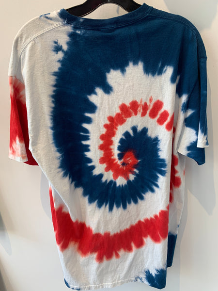"Tie-Dye ""You Rock It, We'll Crock It"" T-Shirt, size L"