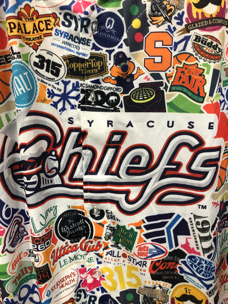 Central New York Promo Syracuse Chiefs Baseball Jersey XL