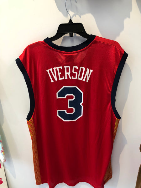 Throwback Reebok Syracuse Nationals Allen Iverson Basketball Jersey