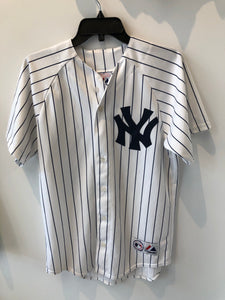 Majestic New York Yankees Andy Petitte #46 pinstripe Jersey Small Made in USA
