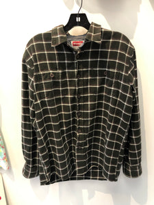 Plaid Green Wrangler Flannel Medium