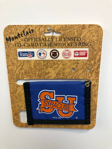 Vintage Syracuse University ID Card Case with Key Ring