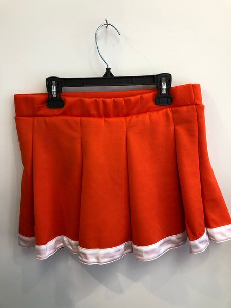 Orange and White Tailgate Skirt