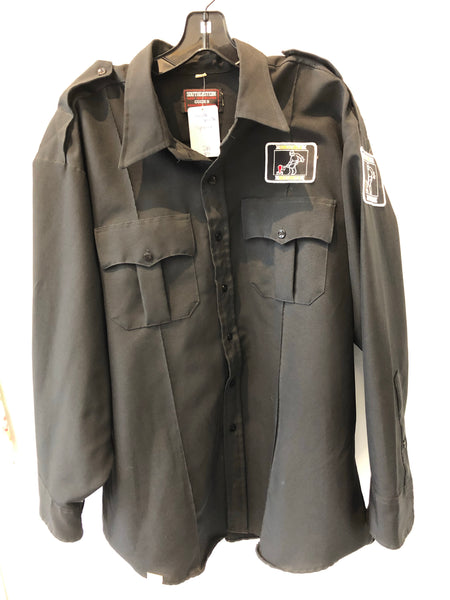 Vintage Black Crucible Security Shirt (Syracuse,NY) 2XL Made in USA