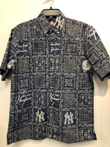 Reyn Spooner New York Yankees Lahaina Washed Button Front Hawaiian Shirt