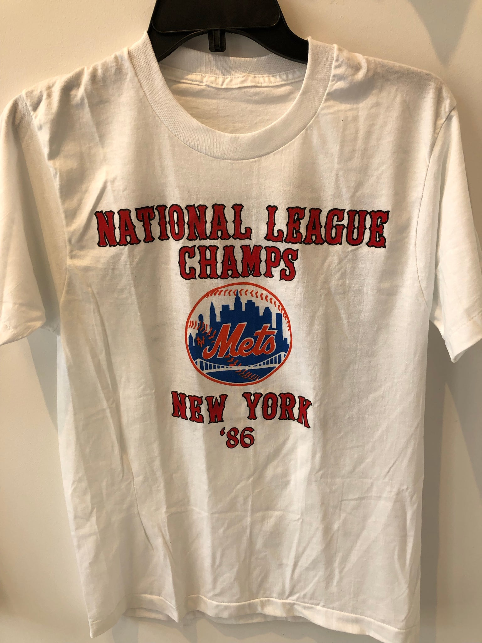 Vintage Perfect Condition 1986 National League Champs New York Mets T Shirt Fits Small