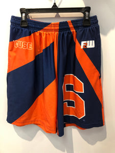 Fit 2 Win Syracuse Lacrosse Shorts w/ the Block S and Otto Size Small Made in USA