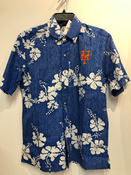 Reyn Spooner New York Mets 50th State Button Front Hawaiian Shirt
