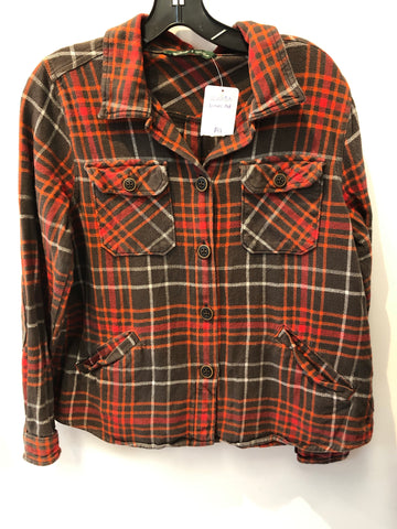 Woolrich Long Sleeve Plaid Shirt Jacket Womens Medium