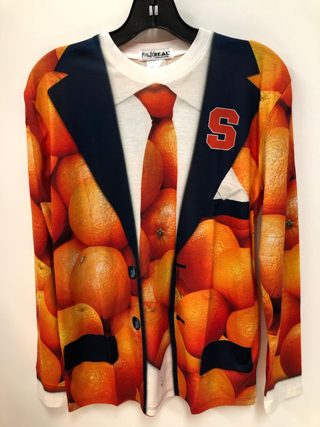 Syracuse University Orange Faux Suit Sublimated Long Sleeve T Shirt