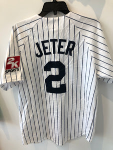Majestic New York Yankees Derek Jeter #2 Pinstripe Jersey Large Made in USA