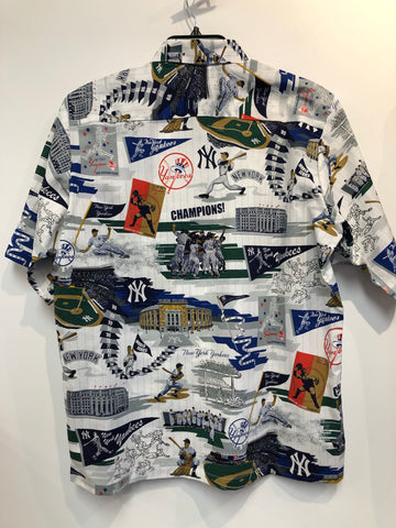 Reyn Spooner New York Yankees Scenic All Over Button Front Hawaiian Shirt