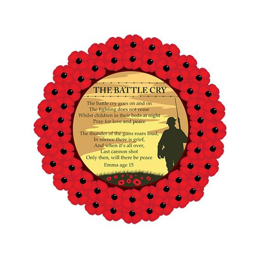 Poppy Wreath Poem The Battle Cry