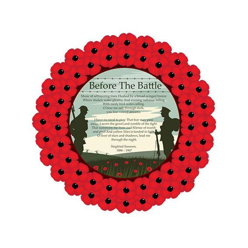 Poppy Wreath Poem Before the Battle