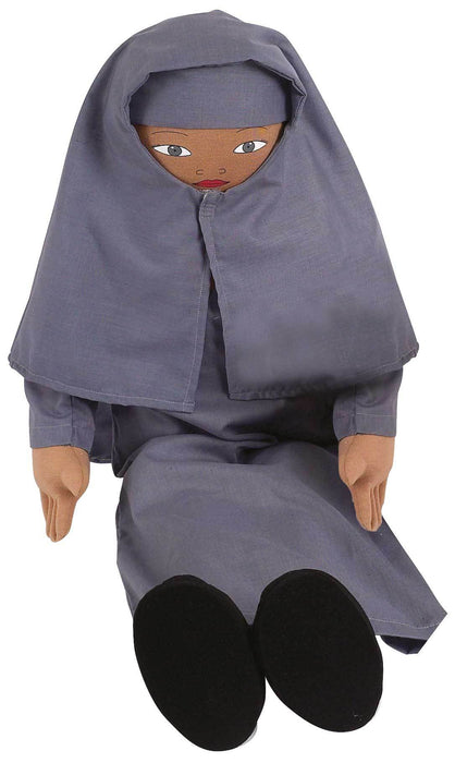 Muslim Girl Persona Doll with Bourkha & Hijab